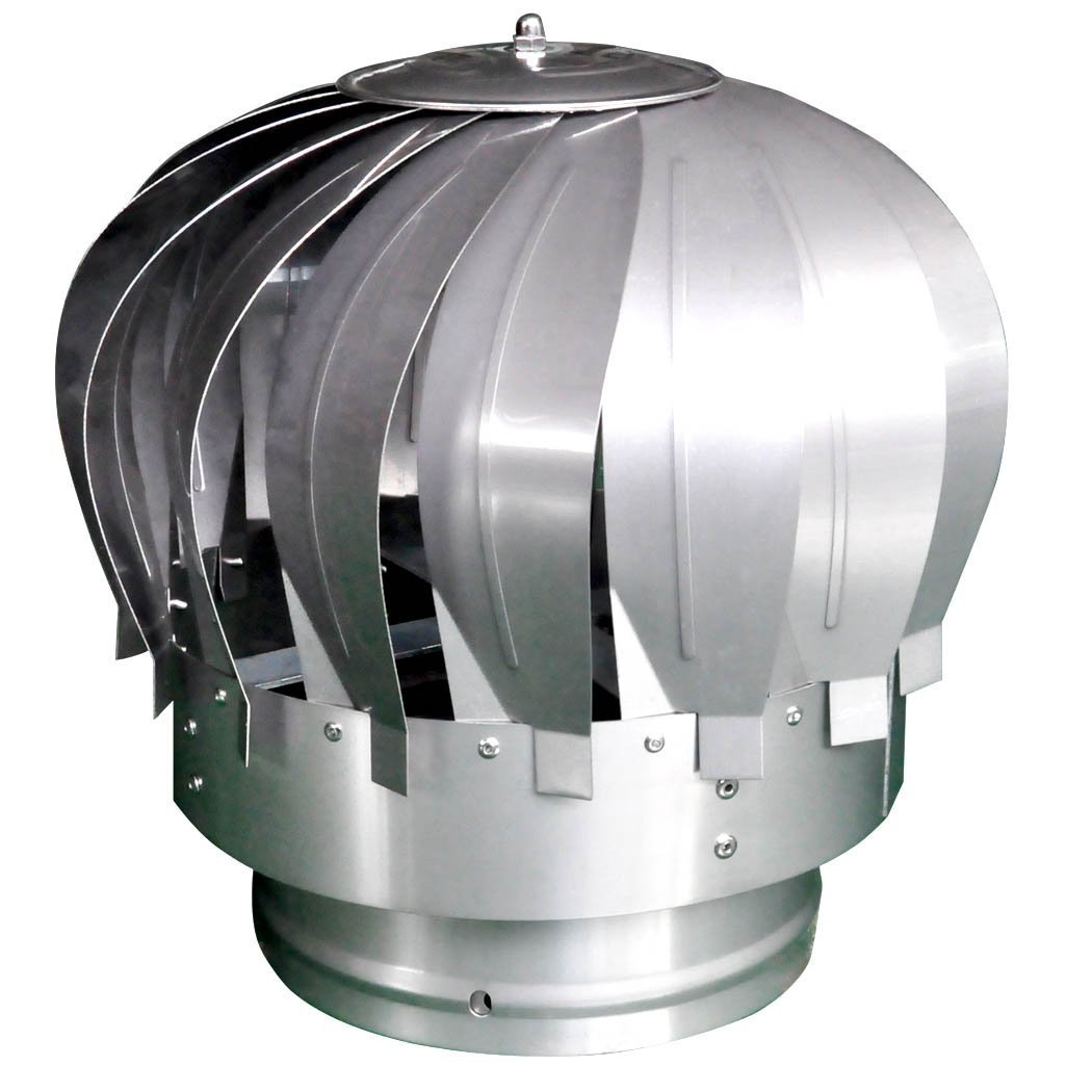 Stainless Steel Rotating Chimney Cowl Cap Spinner Anti-Downdraught Fits Most Standard Chimney Pots Newsky
