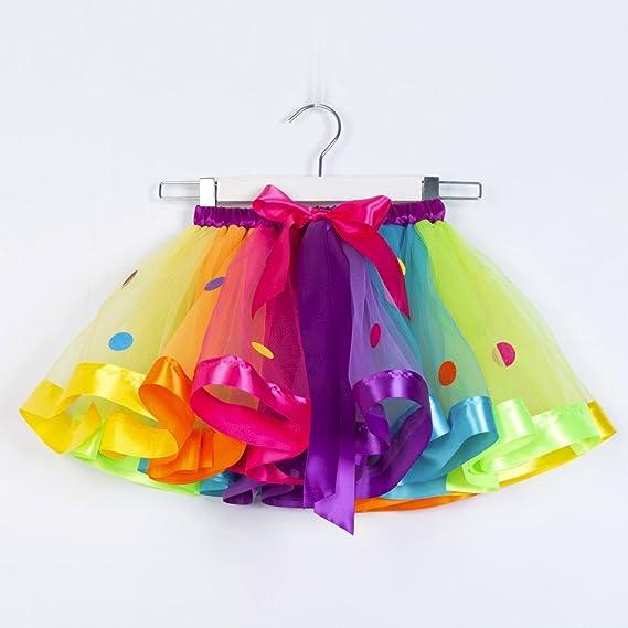 Feixiang Bebé recién Nacido Tutu Princesa Vestido de Niña Niño Tutu Tul Fiesta de Baile Ballet Falda Falda de Malla Arco Iris Ropa de Bebé: Amazon.es: ...