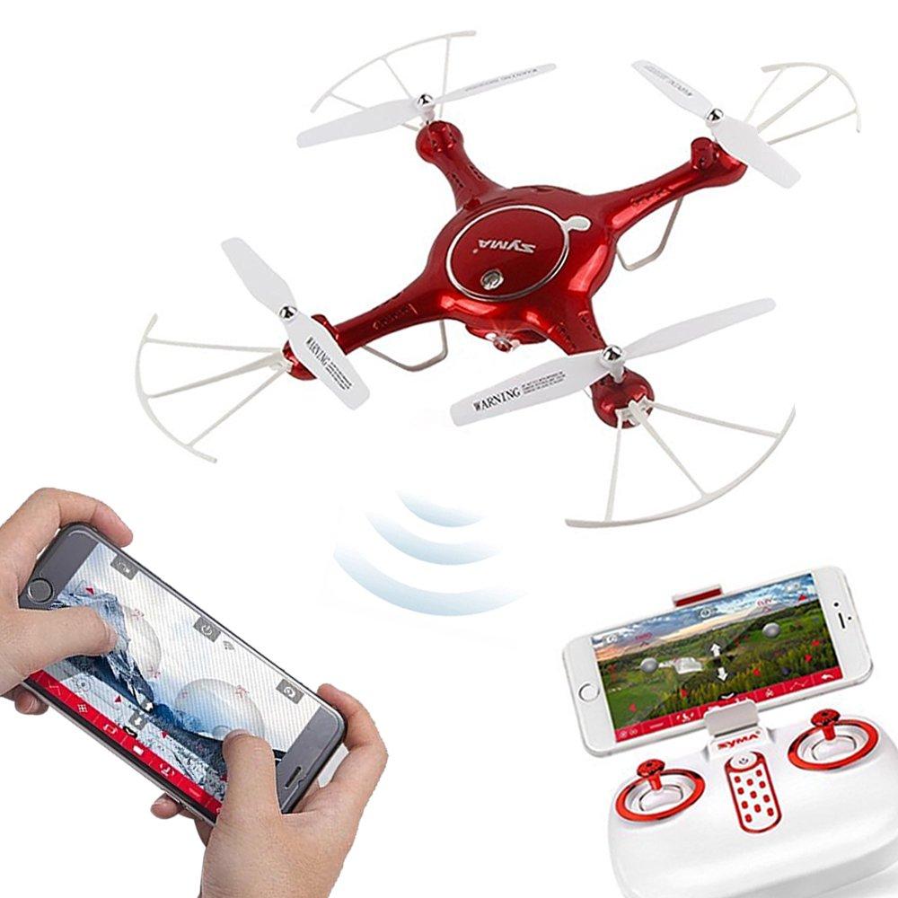 Syma X5UW Drone con WiFi FPV Cámara de vídeo en vivo Mini RC ...