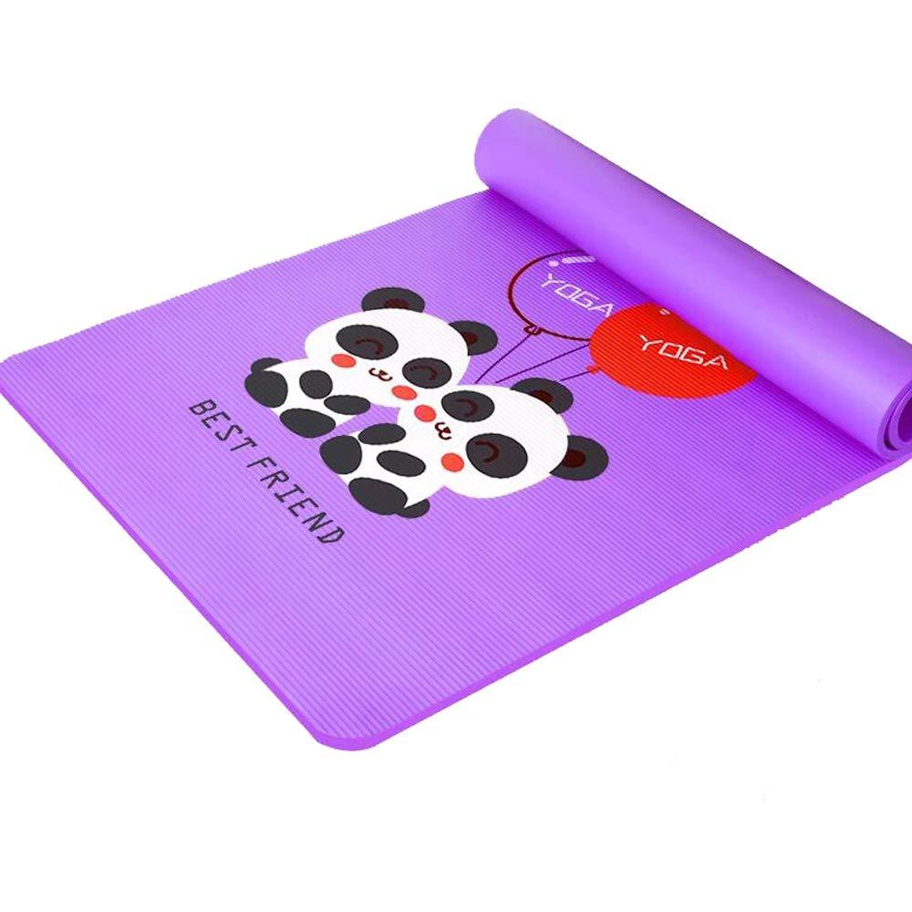 Gkingif Yoga-Matte Niedlich Kinder Tanz Gymnastikmatte Panda Elephant Print Fitness Mat Anfänger Dreiteilige Set, L185cm W90cm