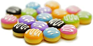 18 Psc Color Cream Donut Dollhouse Miniatures Food Kitchen by Cool Price