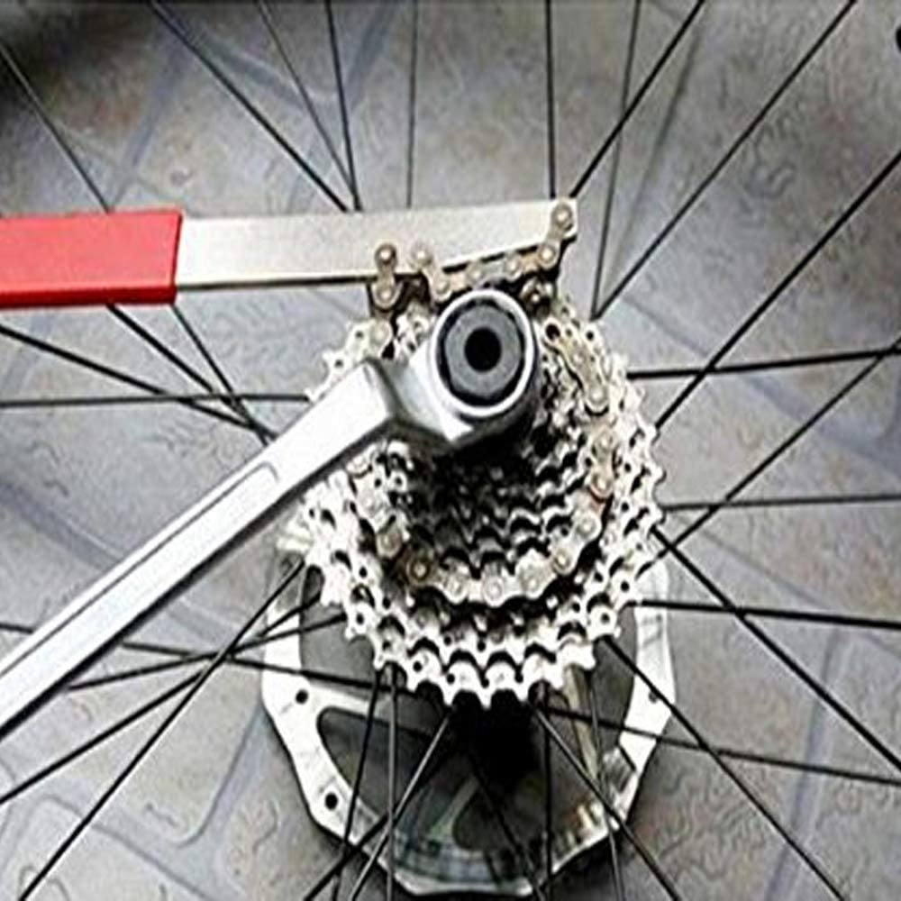 GCA Bicycle Chain Whip BMX Cycling Wheel Sprocket Wrench Remover Tool Red