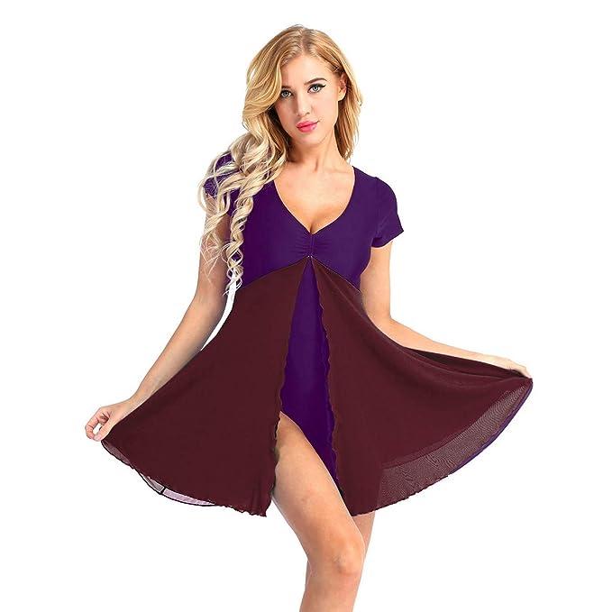 dPois Vestido de Danza Mujer Maillot de Ballet Traje de Patinaje ...