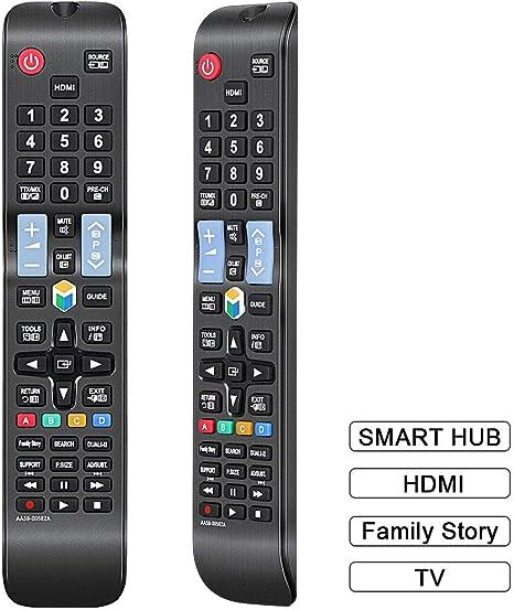 gvirtue mando a distancia compatible de repuesto AA59 – 00580 A para Samsung UN32EH5300 UN32EH5300 F UN32EH5300FXZA UN40EH5300 F UN40ES6100 F un40es6100fxza un40es6150 F UN46ES6100 F UN46ES6150 UN46ES6150 F: Amazon.es: Electrónica