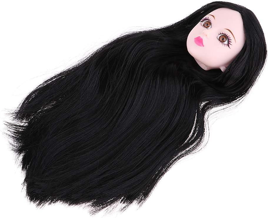 Fenteer T/ête de Poup/ée D/écor pour 1//4 BJD Dolls ou Autre Poup/ée Cheveux Noir