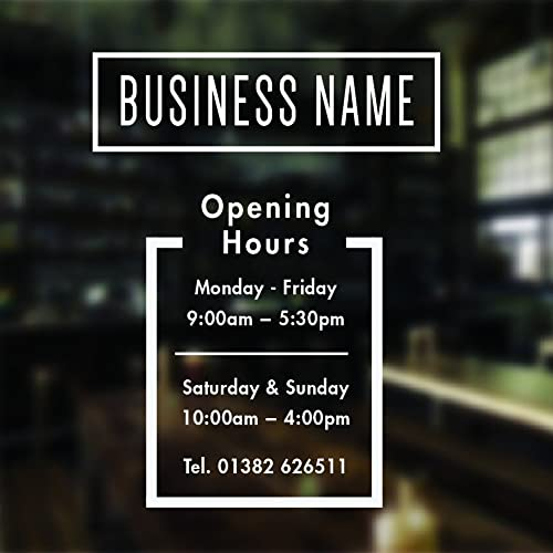 Opening hours sign opening times sign for shop window sticker v11 open closed sign business hours