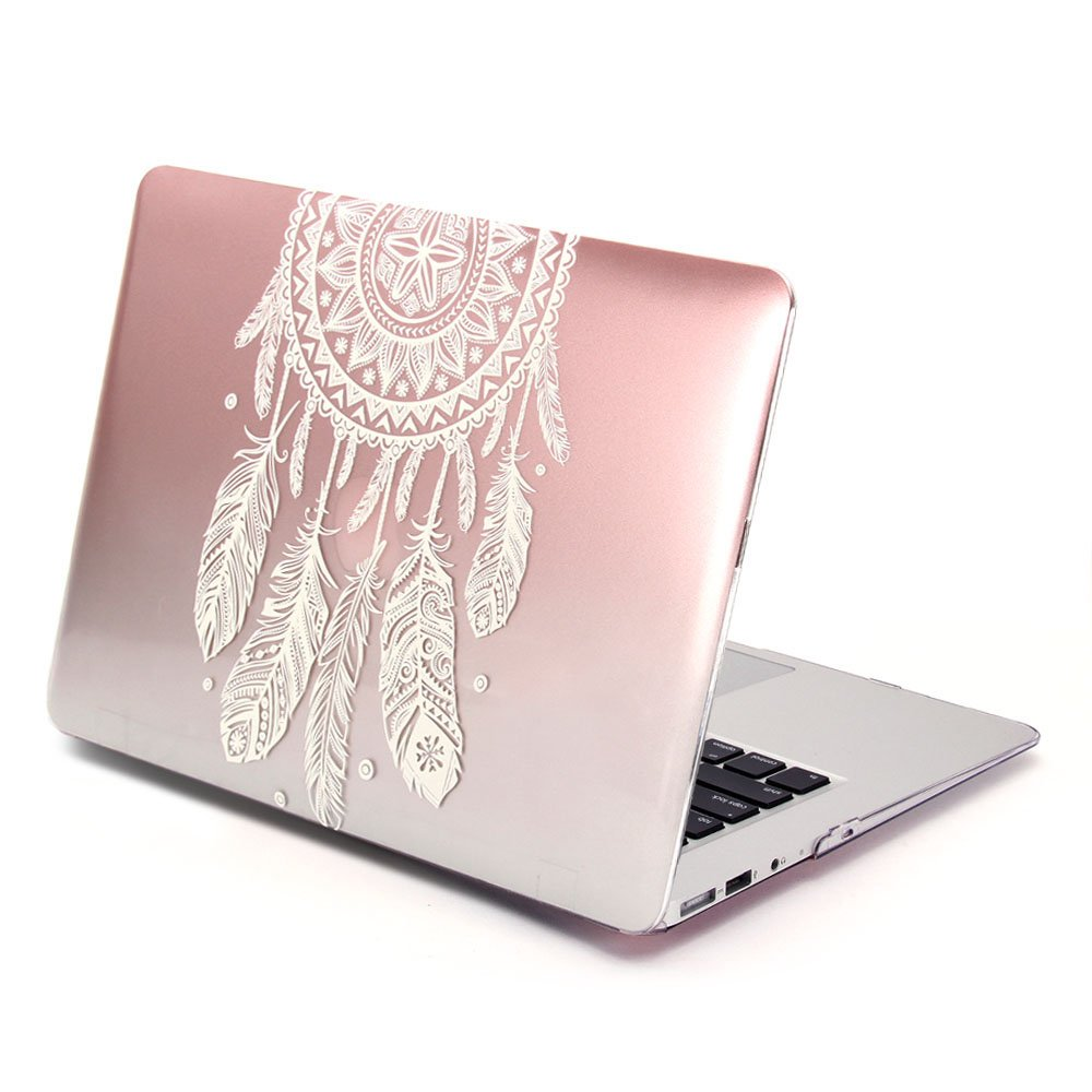 GMYLE Funda para MacBook Air 13 Pulgadas, Degradado Rosa ...