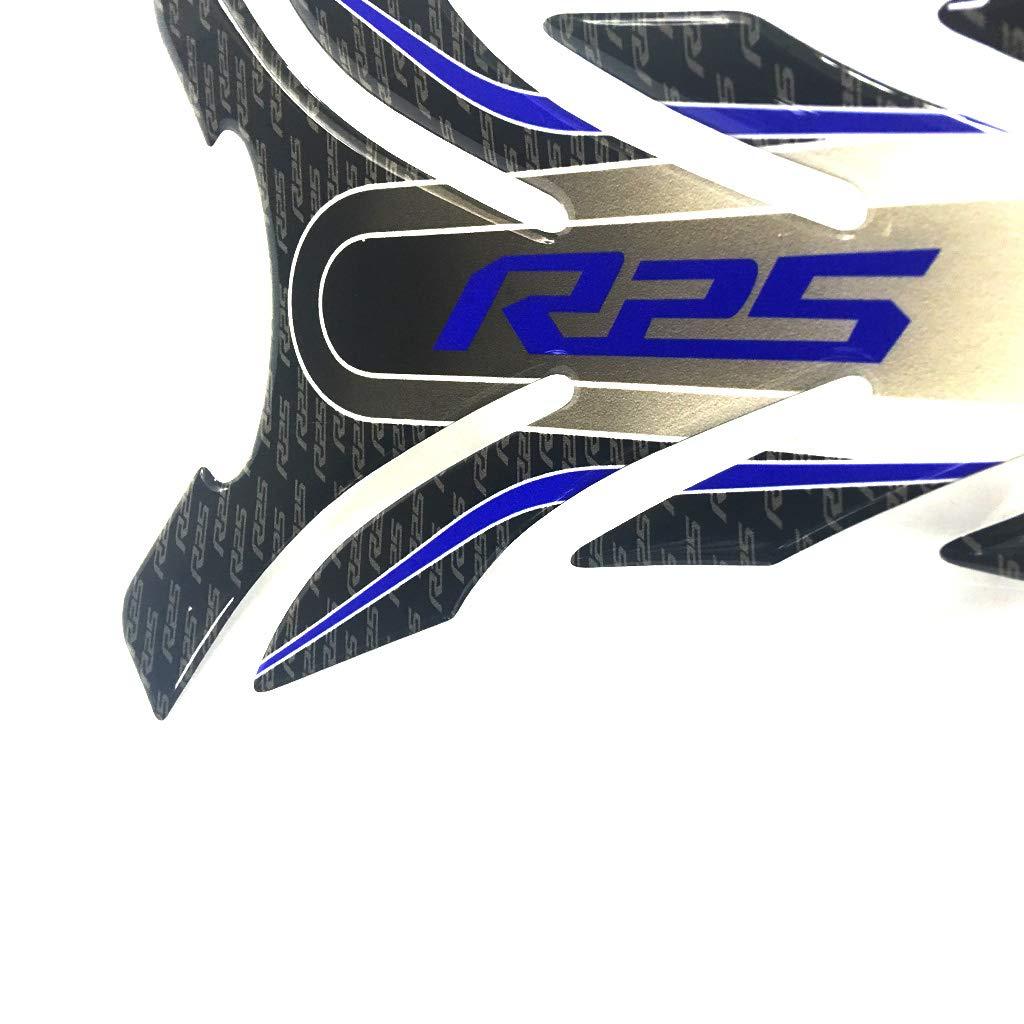 psler Adesivo per serbatoio serbatoio moto 3D per Yamaha R1 Blu