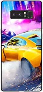 Cover For Samsung Galaxy Note8 - Yellow Car