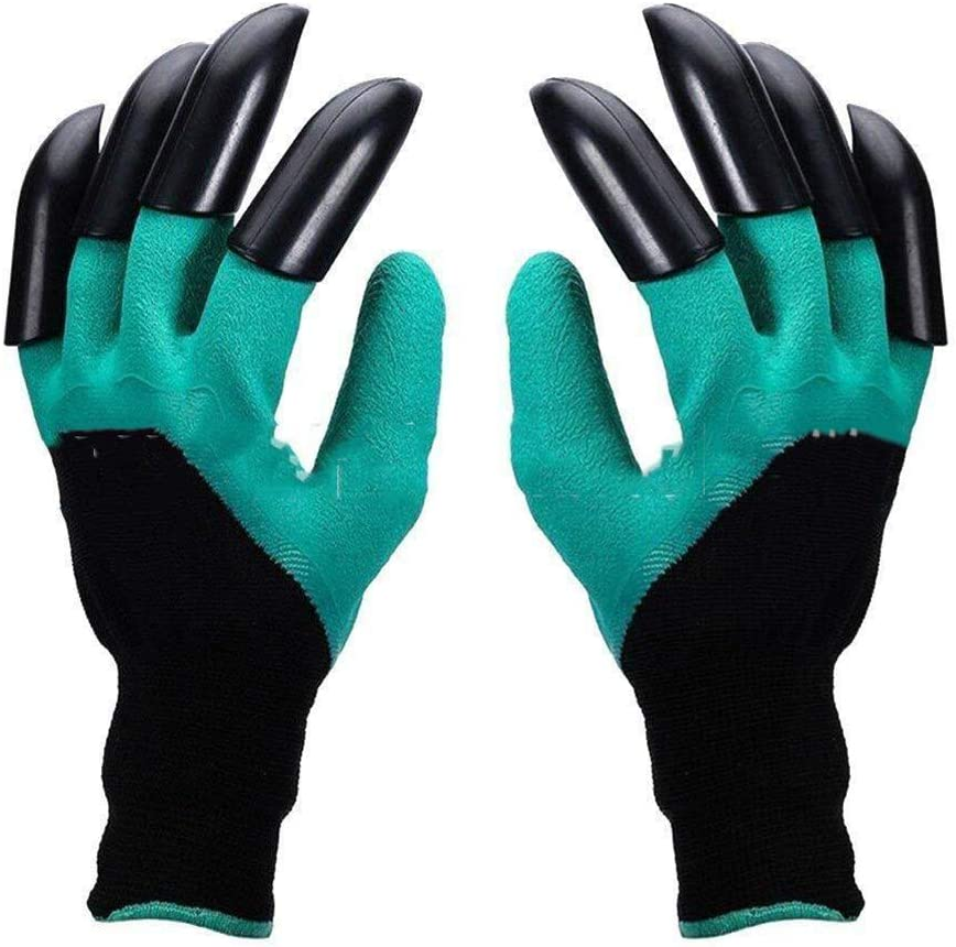 ZHOUHUAW 2 Pairs Women and Men Garden Genie Gloves with Claw, Digging Planting Pruning Thorn & Cut Proof Gloves