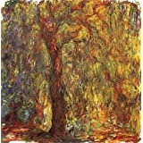 Canvas Prints Of Oil Painting ' Weeping Willow,1918-1919 By Claude Monet ' , 18 x 18 inch / 46 x 46 cm , High Quality Polyster Canvas Is For Gifts And Bath Room, Garage And Gym Decoration, easy print