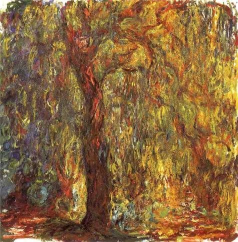Oil Painting 'Weeping Willow,1918-1919 By Claude Monet', 24 x 24 inch / 61 x 62 cm , on High Definition HD canvas prints is for Gifts And Bath Room, Garage And Gym Decoration, print onto