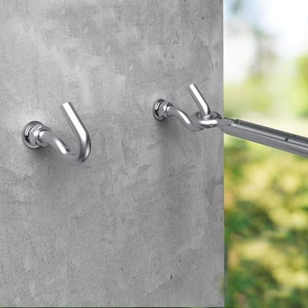 M8 Open Expansion Hook 304 Stainless Steel Expansion Bolts Expansion Anchor Bolt Open Cup Hooks 5pcs