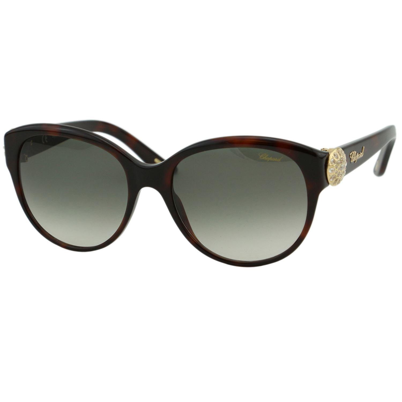 Chopard Diamant SCH 185S Women Tortoiseshell & gold Sunburst Crystals Sunglasses