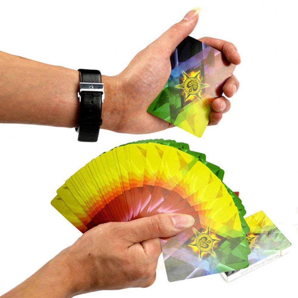 Calistouk colorato arcobaleno mazzo di trucco magico da gioco morbido di giocattoli