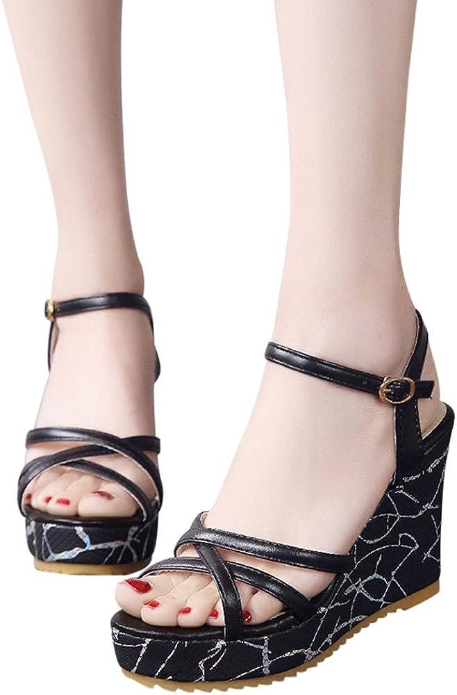 Bout Été Tongs Talon Compensé Compensées Femmes Chaussures Femme Talons Homebaby Sandales Hauts Ybvfy76gIm