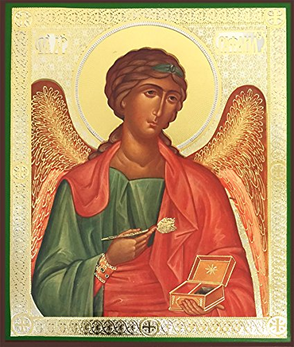 Religious Gifts Archangel Saint St Raphael Icon The Healer Authentic Russian Wood Wall 6 1/4 Inch (Saint Icons)