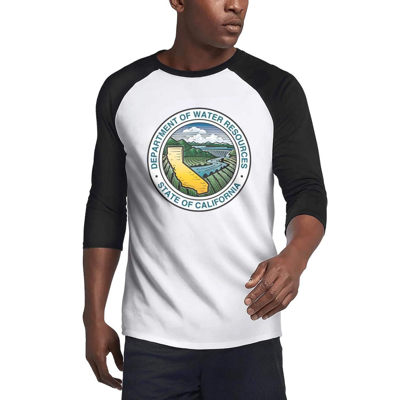 ijingak Houston Fire Department Men 3//4 Sleeve Plain Raglan T Shirt Personalized Work Tee Shirt