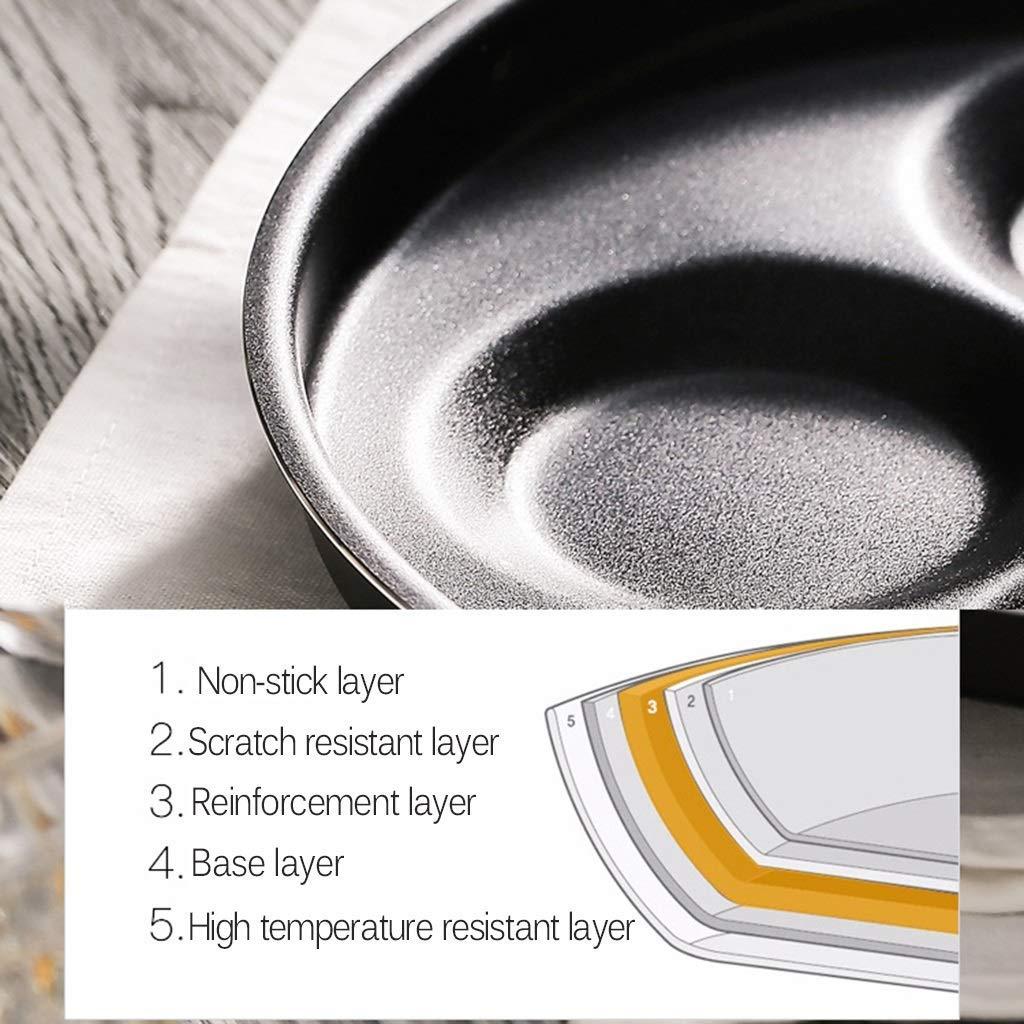 m/últiples tecnolog/ías compatibles con dise/ños de 4 moldes platos crepes Sart/én con tortilla recubierta antiadherente adecuada para panqueques suecos