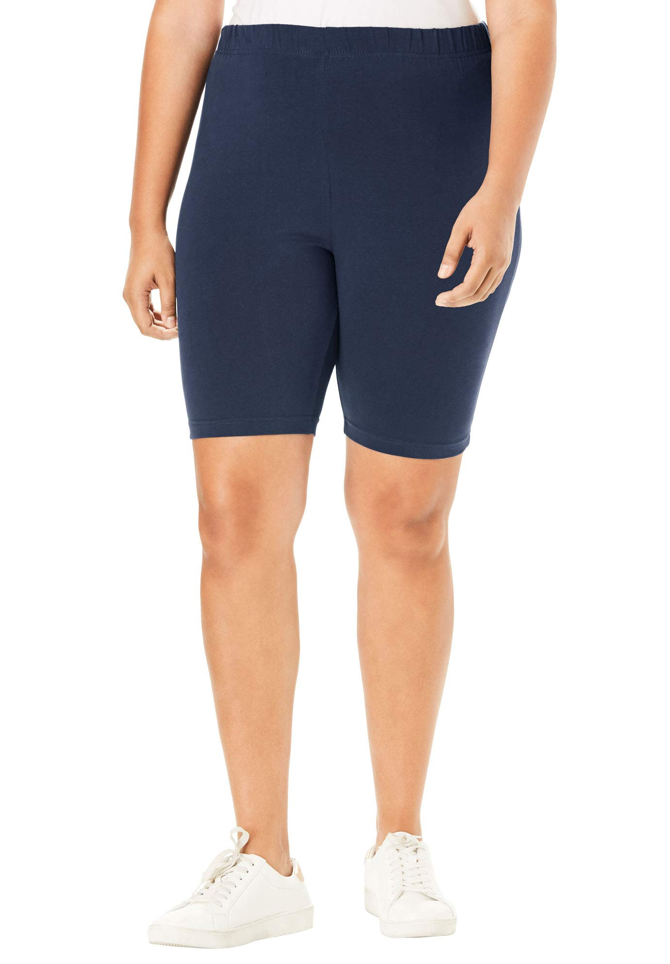 Roamans Women's Plus Size Essential Stretch Bike Short - Navy, 4X by Roamans