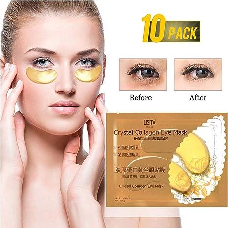 Amazon.com: Joykith - Máscara de ojos dorados bajo los ojos ...