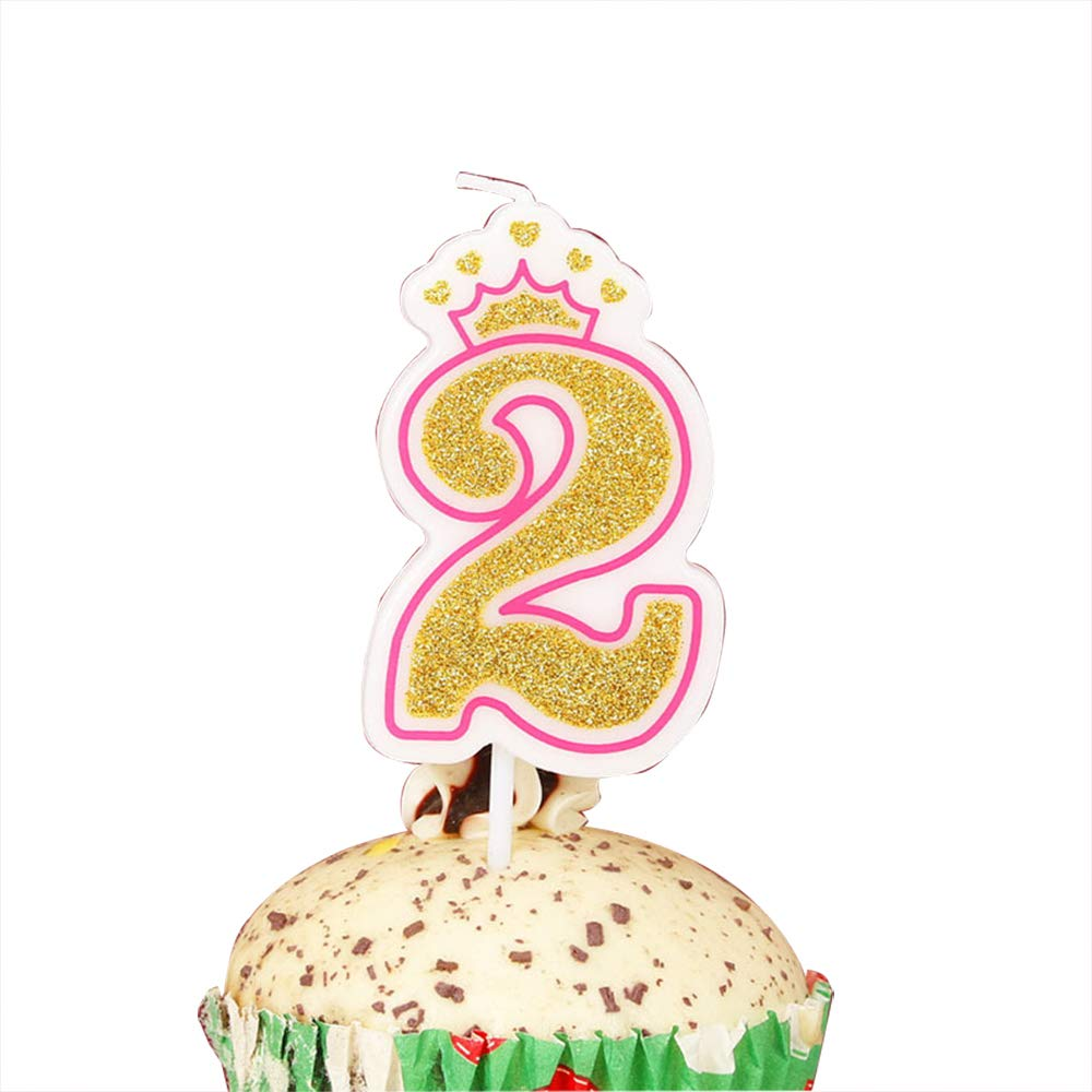 Amazon.com: Lovely Biton oro Happy velas de cumpleaños, 0 ...