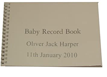 No frills personalised baby record book with babys full name and no frills personalised baby record book with babys full name and date of birth negle Images