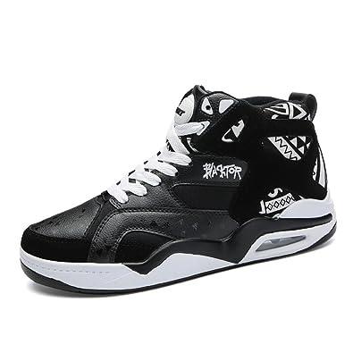 Chaussure Homme Basket Sport Mode Sneakers Imperméable Multisport Outdoor pour  Volley Tennis Pied Large Basket Haut e4a2181e1561
