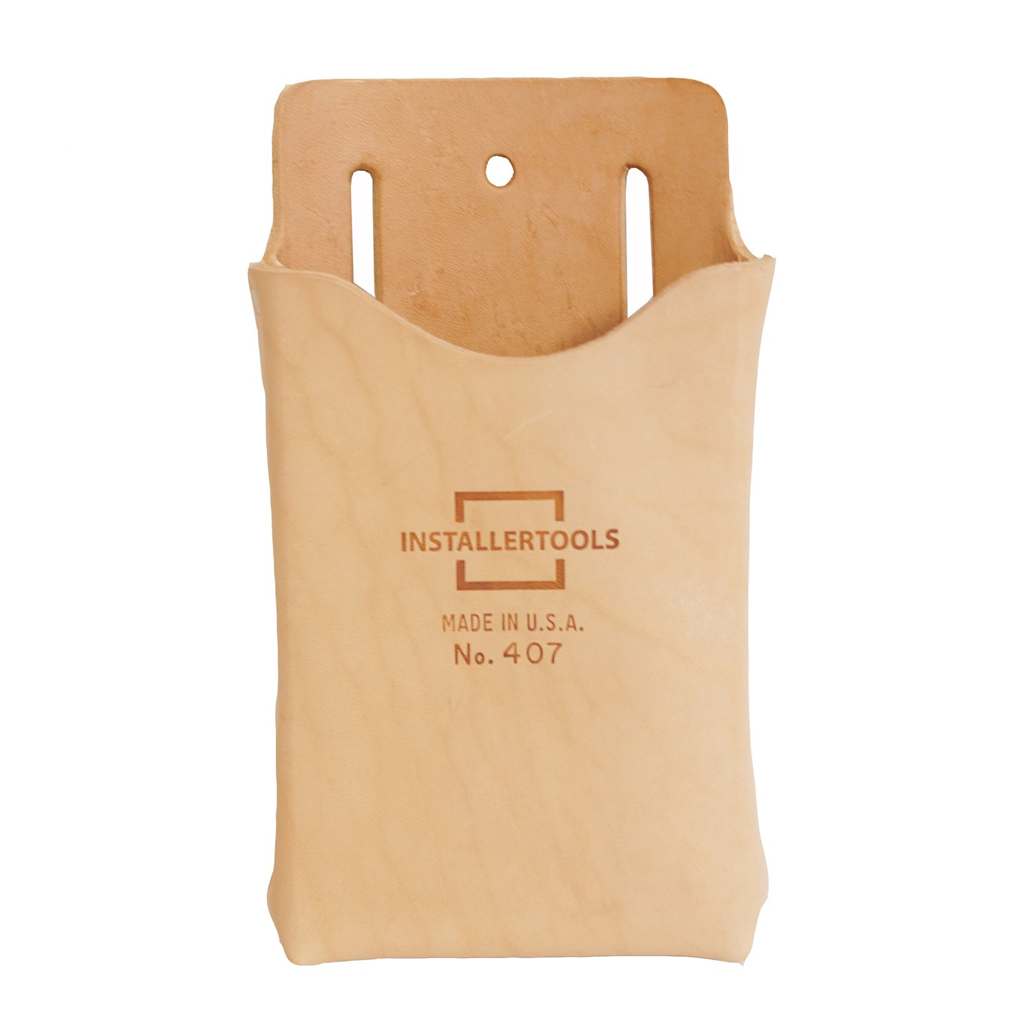Installertools Leather Single Pocket Box Style Tool Pouch