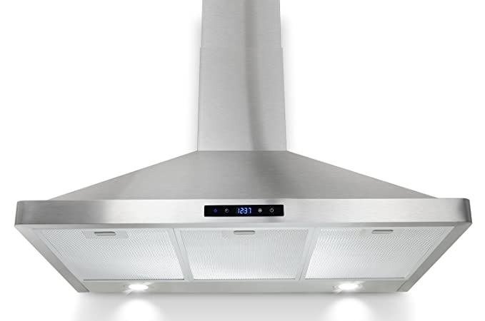 AKDY Wall Mount Range Hood Stainless-Steel Hood Fan for Kitchen – 3-Speed  Professional Quiet Motor – Premium Touch Control Panel – Modern Design – ...