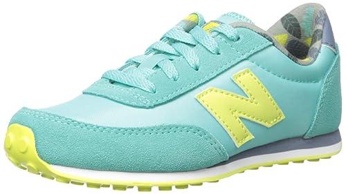 New Balance - Zapatillas de Ante para niña Verde Aqua/Yellow, Aqua/Yellow, 38.5: Amazon.es: Zapatos y complementos