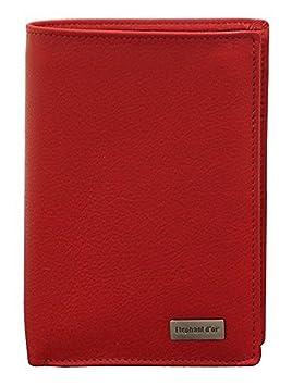 2c35b808b2b7 Portefeuille Design pour homme en cuir rouge N772  Amazon.fr  Bagages