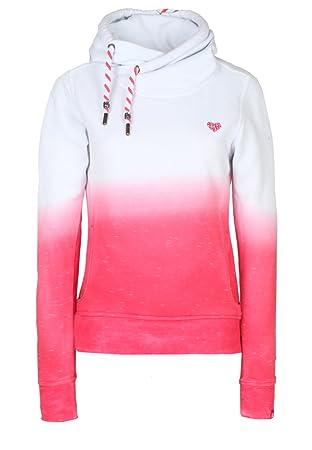 alife and kickin Damen Pullover Sarah Sweat, Fuchsia Dipdye, XS, 21352
