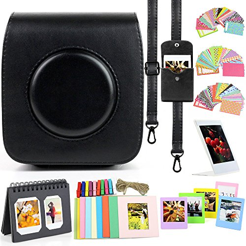 wogozan Camera Accessories for Fujifilm Instax Square SQ10,The Bundles Kit Includes Camera Case Black/Wall Hanging Frames/Album/Film Stickers/Film Frames/Photo Pouch.