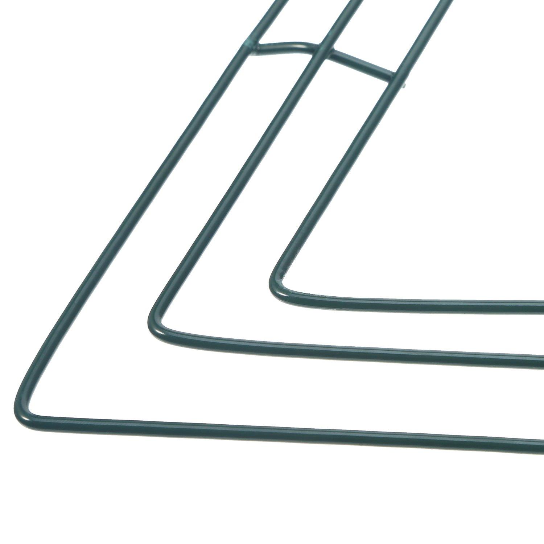 Herzförmige Draht Kranz Rahmen 16 Zoll Grüne Blume Metalldraht Ringe ...