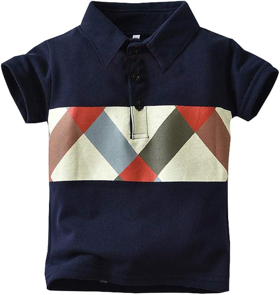 Tops niña | Camiseta con Estampado de geometría de Caballero de Manga Corta para bebés niños pequeños Tops Ropa 6 Meses - 4 años: Amazon.es: Ropa y accesorios