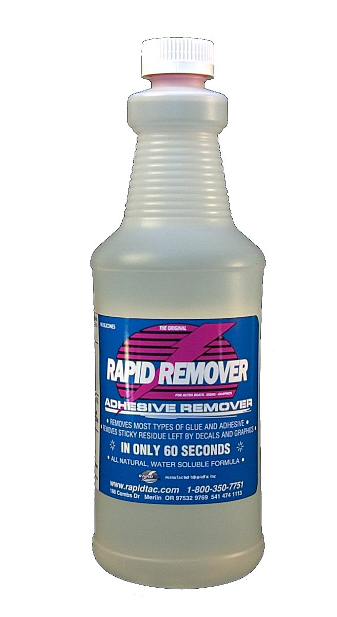 Amazoncom RAPID REMOVER Adhesive Remover For Vinyl Wraps - Custom vinyl decal application fluid recipe