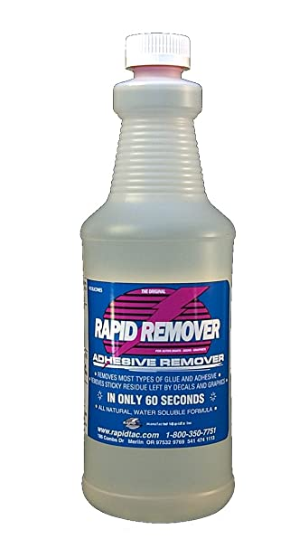 Amazoncom RAPID REMOVER Adhesive Remover For Vinyl Wraps - Boat decals and lettering   easy removal