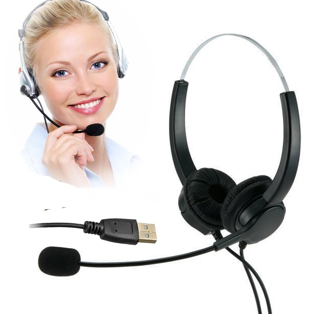 TelPal Corded Noise cancelling Monaural Headset with USB headset Adapter as Office PC headset For Computer/PC/Laptop Use Only LYSB01C439JGG-CMPTRACCS
