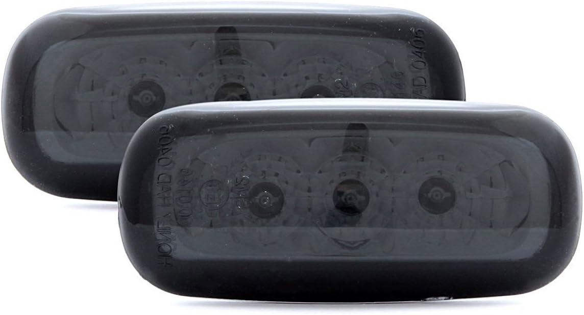 Black Smoke LED Side Marker Lights Turn Signals For Audi A4// S4 B5 TT 98-06 A8 A6 C5