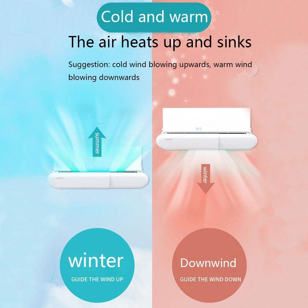 Deflettore per aria condizionata anti-vento Bianco per uso domestico e ufficio sottile regolabile