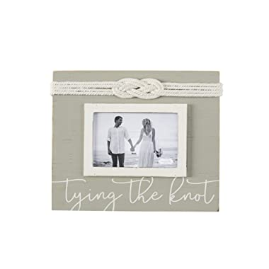 Mud Pie Tying The Knot Picture 4  x 6  Wedding Frame Grey, White