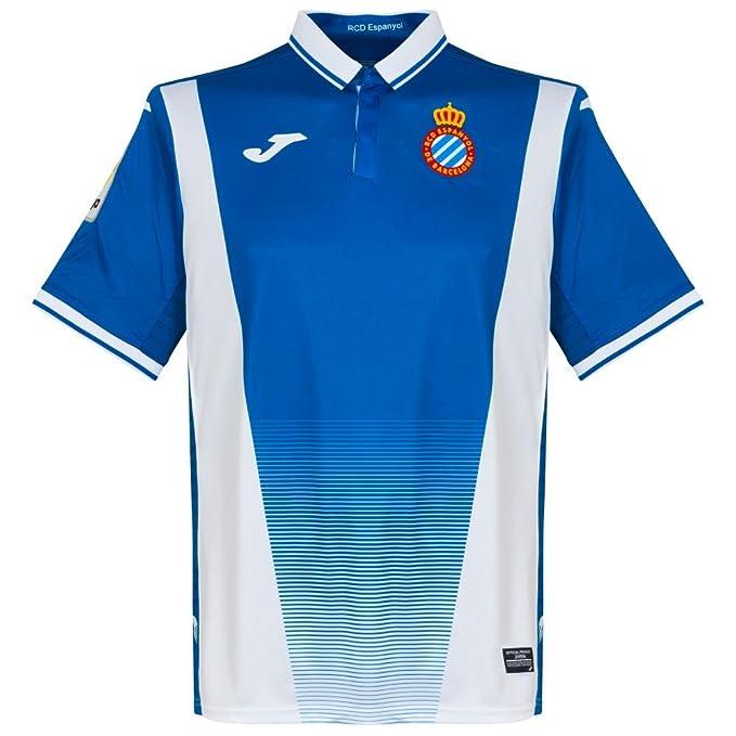 Camiseta Joma RCD Espanyol Home 2017-2018 Azul-Blanco: Amazon.es: Ropa y accesorios