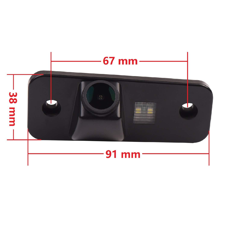Telecamera posteriore per retromarcia HD 1280 x 720p con visione notturna Ip69K impermeabile per Hyundai Azera Santa Fe IX45 2001-2012