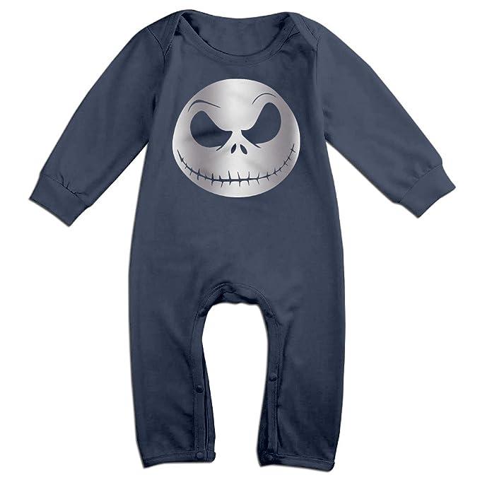 Bebé Niños Jack Skellington cara pesadilla Platinum estilo Pelele Mono trajes - Azul -