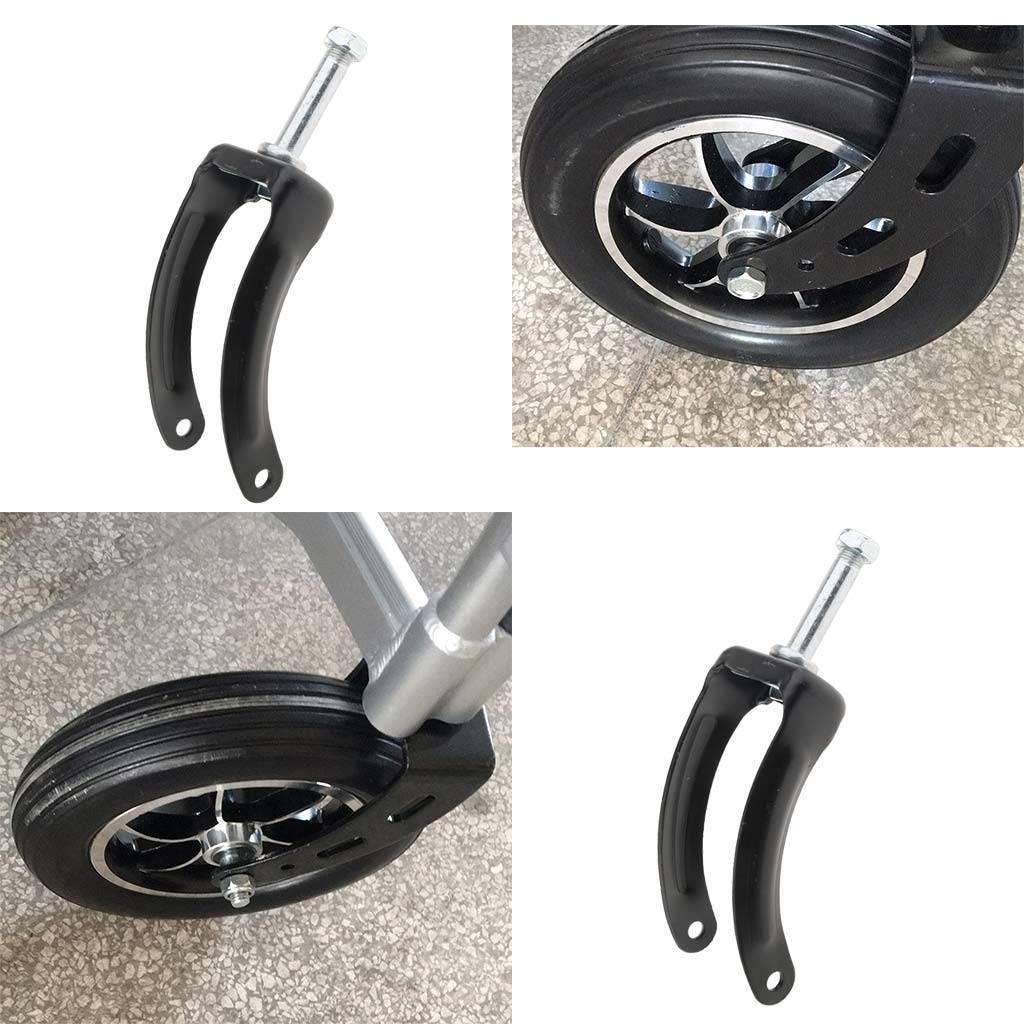 Baoblaze 8 Inch Wheel Fork Drive Front Fork Replacement Assembly Repair Parts for Wheelchairs Pack of 4