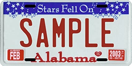 Amazon Com Custom Personalized Metal License Plate Your Name Your State Choose From All 50 States Sports Outdoors