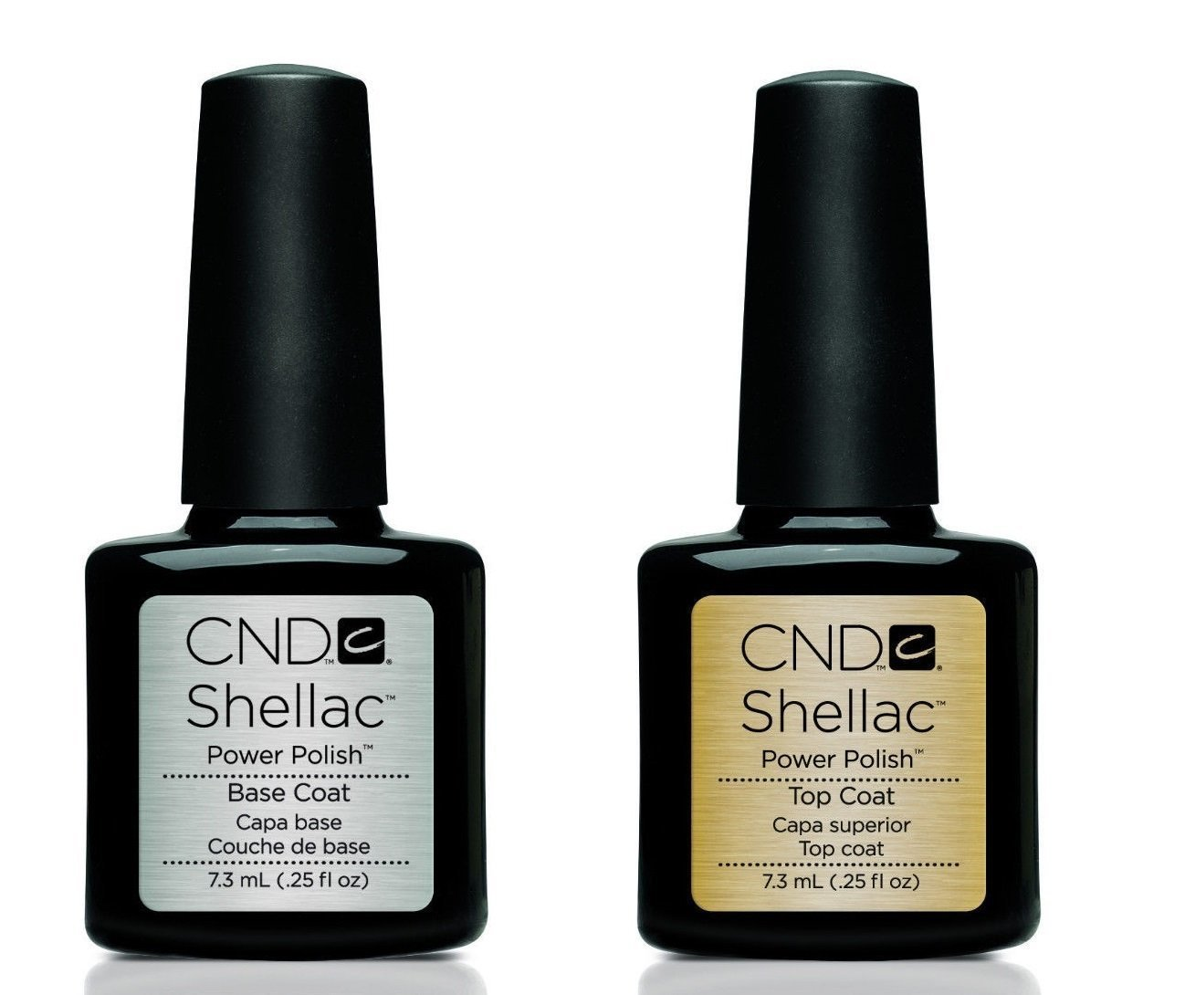Shellac Power Polish Capa Superior Top Coat and Base Coat