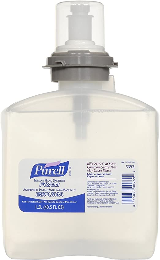 Amazon Com Purell 5392 02 Instant Hand Sanitizer Foam Refill 2