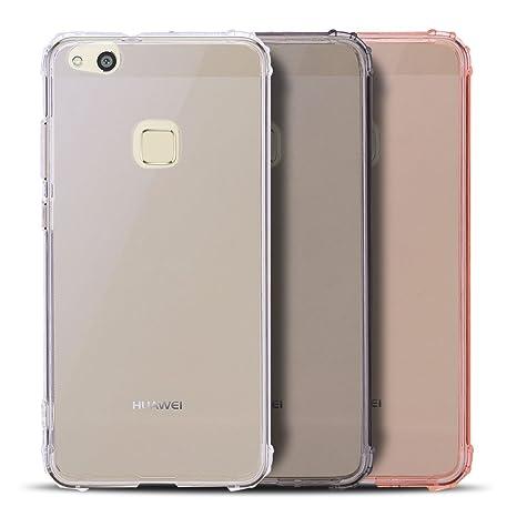 Anfire 3X Funda Huawei P10 Lite, Carcasa de Transparente y ...